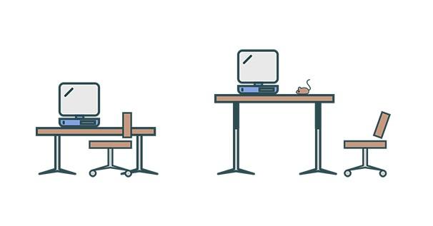 richtig sitzen schreibtisch. Black Bedroom Furniture Sets. Home Design Ideas