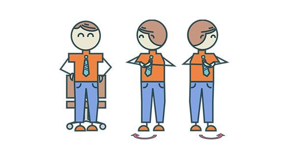 Arbeitsplatz zeichnung  Anti-Stress-Übungen am Arbeitsplatz | Beruf | NÜRNBERGER Versicherung