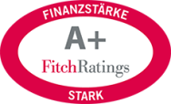 Siegel Fitch Ratings: A+ (Finanzstärke)