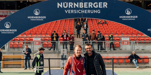 Sponsor of the Day Fanreporter mit Trainer